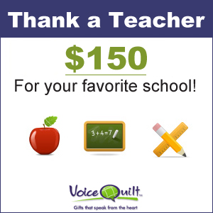Thank Or Appreciate A Teacher and Win $150 For Your School!